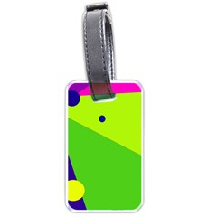 Colorful Abstract Design Luggage Tags (one Side)  by Valentinaart