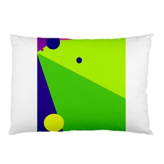 Colorful Abstract Design Pillow Case (two Sides) by Valentinaart