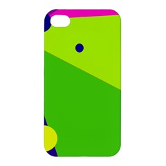 Colorful Abstract Design Apple Iphone 4/4s Hardshell Case by Valentinaart