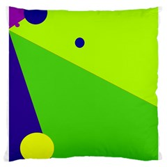 Colorful Abstract Design Large Cushion Case (one Side) by Valentinaart