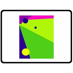 Colorful Abstract Design Double Sided Fleece Blanket (large)