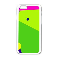 Colorful Abstract Design Apple Iphone 6/6s White Enamel Case by Valentinaart