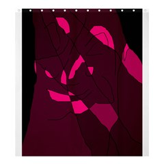 Abstract Design Shower Curtain 66  X 72  (large)  by Valentinaart