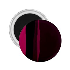 Pink And Black Lines 2 25  Magnets by Valentinaart