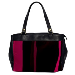 Pink And Black Lines Office Handbags by Valentinaart
