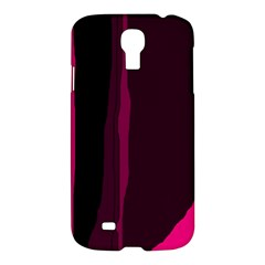 Pink And Black Lines Samsung Galaxy S4 I9500/i9505 Hardshell Case by Valentinaart