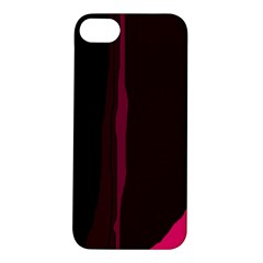 Pink And Black Lines Apple Iphone 5s/ Se Hardshell Case by Valentinaart