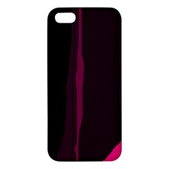 Pink And Black Lines Iphone 5s/ Se Premium Hardshell Case by Valentinaart