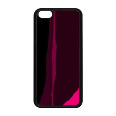 Pink And Black Lines Apple Iphone 5c Seamless Case (black) by Valentinaart