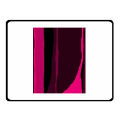 Pink And Black Lines Double Sided Fleece Blanket (small)  by Valentinaart