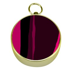 Pink And Black Lines Gold Compasses