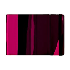 Pink And Black Lines Ipad Mini 2 Flip Cases by Valentinaart