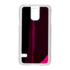 Pink And Black Lines Samsung Galaxy S5 Case (white) by Valentinaart