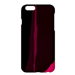 Pink And Black Lines Apple Iphone 6 Plus/6s Plus Hardshell Case by Valentinaart