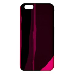 Pink And Black Lines Iphone 6 Plus/6s Plus Tpu Case by Valentinaart