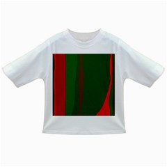 Green And Red Lines Infant/toddler T Shirts by Valentinaart