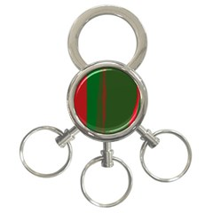 Green And Red Lines 3 Ring Key Chains by Valentinaart