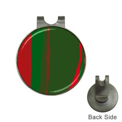 Green And Red Lines Hat Clips With Golf Markers