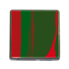 Green And Red Lines Memory Card Reader (square)