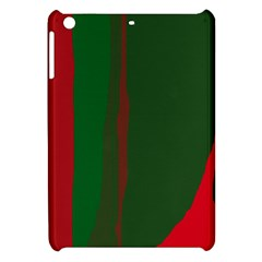 Green And Red Lines Apple Ipad Mini Hardshell Case by Valentinaart