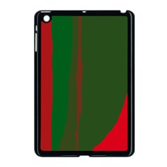 Green And Red Lines Apple Ipad Mini Case (black) by Valentinaart