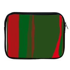 Green And Red Lines Apple Ipad 2/3/4 Zipper Cases by Valentinaart