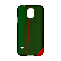 Green And Red Lines Samsung Galaxy S5 Hardshell Case  by Valentinaart