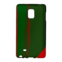Green And Red Lines Galaxy Note Edge by Valentinaart
