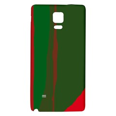 Green And Red Lines Galaxy Note 4 Back Case by Valentinaart