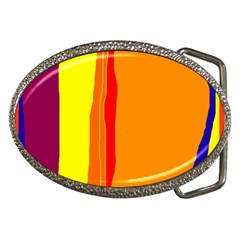 Hot Colorful Lines Belt Buckles by Valentinaart