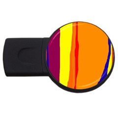 Hot Colorful Lines Usb Flash Drive Round (2 Gb)  by Valentinaart
