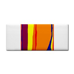 Hot Colorful Lines Hand Towel by Valentinaart