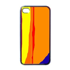 Hot Colorful Lines Apple Iphone 4 Case (black) by Valentinaart