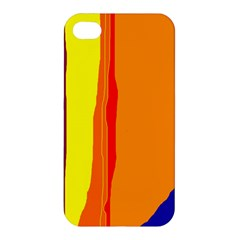 Hot Colorful Lines Apple Iphone 4/4s Hardshell Case by Valentinaart