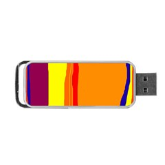 Hot Colorful Lines Portable Usb Flash (one Side) by Valentinaart