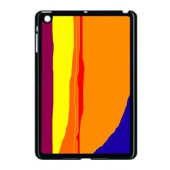 Hot Colorful Lines Apple Ipad Mini Case (black) by Valentinaart