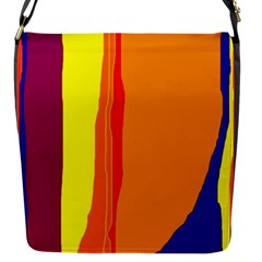 Hot Colorful Lines Flap Messenger Bag (s) by Valentinaart