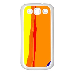Hot Colorful Lines Samsung Galaxy S3 Back Case (white) by Valentinaart
