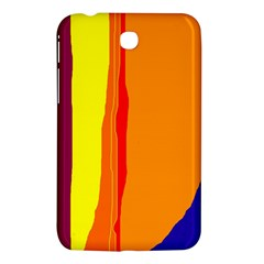 Hot Colorful Lines Samsung Galaxy Tab 3 (7 ) P3200 Hardshell Case  by Valentinaart
