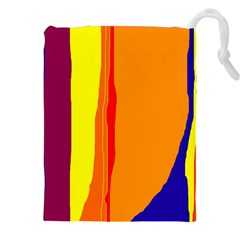 Hot Colorful Lines Drawstring Pouches (xxl) by Valentinaart