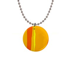 Yellow And Orange Lines Button Necklaces by Valentinaart