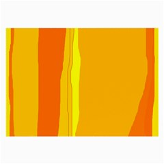 Yellow And Orange Lines Large Glasses Cloth