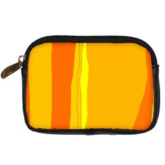 Yellow And Orange Lines Digital Camera Cases by Valentinaart