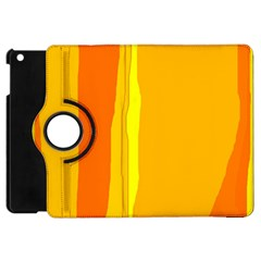 Yellow And Orange Lines Apple Ipad Mini Flip 360 Case by Valentinaart