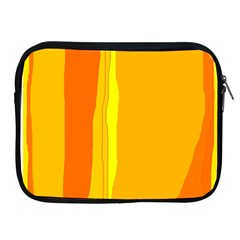Yellow And Orange Lines Apple Ipad 2/3/4 Zipper Cases by Valentinaart
