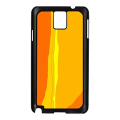 Yellow And Orange Lines Samsung Galaxy Note 3 N9005 Case (black) by Valentinaart