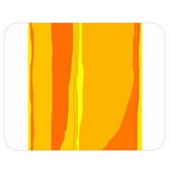 Yellow And Orange Lines Double Sided Flano Blanket (medium)  by Valentinaart