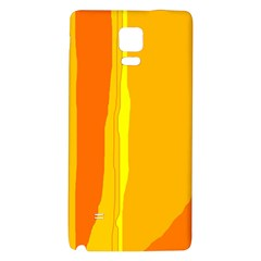 Yellow And Orange Lines Galaxy Note 4 Back Case by Valentinaart