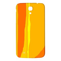 Yellow And Orange Lines Samsung Galaxy Mega I9200 Hardshell Back Case by Valentinaart