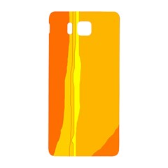 Yellow And Orange Lines Samsung Galaxy Alpha Hardshell Back Case by Valentinaart